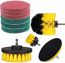 Drill Attachment Kit Swonuk 10 Piece Drill Brush