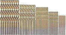 Drill bit 50Pcs/Set Twist Drill Bit Metal Titanium