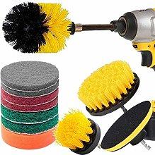 Drill Brush 12 Piece Drill Brush Scrub Pads Power