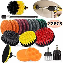 Drill Brush and Scrub Pads, 22Pcs Power Scrubber