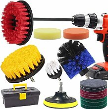 Drill Brush and Scrub Pads, GOH DODD 18 Pieces