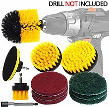 Drill Brush Attachment Cleaning Kit - 12 Pieces