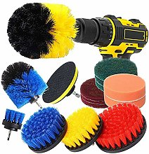 Drill Brush Attachment Set 15 Pcs Power Scrubber