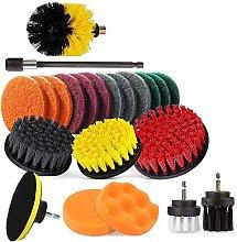 Drill Brush Attachment Set, Power Scrubber Drill