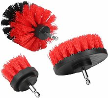 Drill Brush Attachment Set, Red Power Scrubber Kit