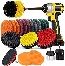 Drill Brush Attachment Set, Scrubbing Brushes