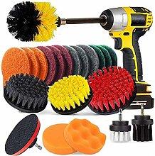Drill Brush Attachment Set, Scrubbing Brushes