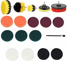 Drill Brush Attachments Set, Cleaning Scrub Brush