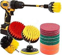 Drill Brush Attachments Set Scrub Pads Sponge