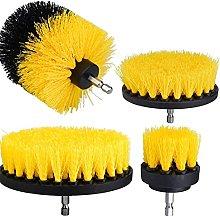 Drill Brush Scrub Accessories Set Yellow Cleaning