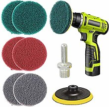 Drill Power Scrubber Brush Scouring Pads & Sponge