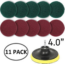 Drill Scouring Pads, 8 Pieces Scrub Pads Drill