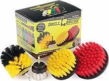 Drillbrush 4 Piece Scrub Brush Drill Attachment