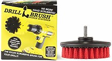 Drillbrush Red Heavy Duty Cleaning Brush with