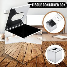 Drillpro - Stainless Steel Square Tissue Box
