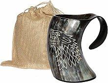 Drink Barware Drinking Horn Mug with Acrylic Base