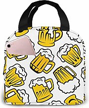 Drink Beer Cool Pattern Lunch Bag,Reusable