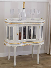 Drink cabinet Coloniale kidney shaped showcase