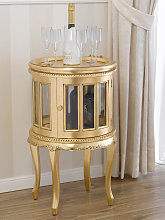 Drink cabinet Coloniale round shaped showcase