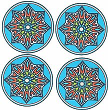 Drink Coasters Set of 4 Cup Pad Mat Non Slip