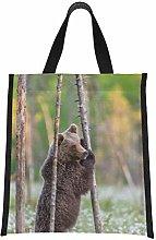 Drink Cooler Bag Brown Bear is Standing Up