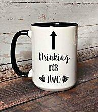 Drinking for Two Pregnancy Coffee Mug 11 oz