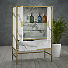Drinks Cabinet With A Sleek Gold Frame