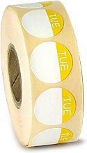 drinkstuff Food Label Day Dots Tuesday - Roll of