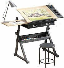 Dripex Adjustable Drawing Table Painting Desk with