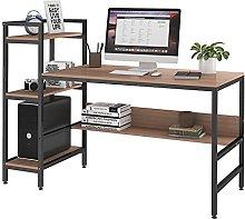 Dripex Computer Desk with 4 Tier Storage Shelves -
