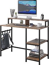 Dripex Computer Desk with Storage Shelves Monitor
