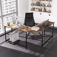 Dripex Corner Computer Desk, L Shaped Corner