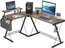 Dripex L Shaped Computer Corner Desk with Monitor