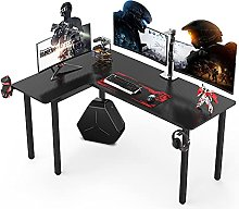 Dripex L shaped Corner Gaming Desk Large Carbon