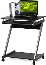 Dripex Mobile Computer Desk Z-Shaped with Sliding
