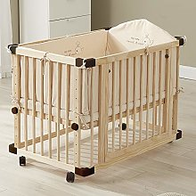 Dripex Wooden Baby Cot Bed Multifunctional Pine