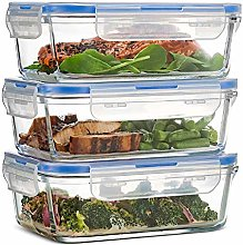 DROB Glass Food Storage Containers with Snap-on