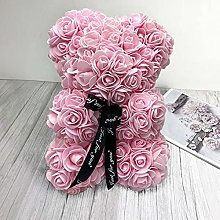 Dropshipping 25cm Rose Bear Artificial Flower Rose