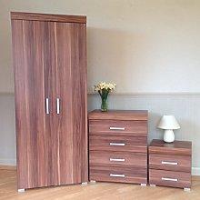 DRP Trading Bedroom Furniture Set *Walnut Effect*