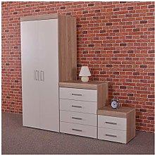DRP Trading Bedroom Furniture Set *White & Sonoma