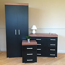 DRP Trading Black Walnut Bedroom Furniture Set -