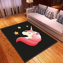 DRSTGYH Modern Rug Carpet Shaggy Area Rugs Black