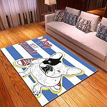DRSTGYH Modern Rug Carpet Shaggy Area Rugs Blue