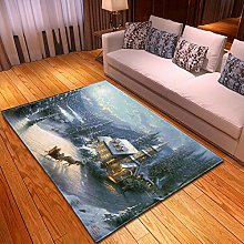 DRSTGYH Modern Rug Carpet Shaggy Area Rugs Chalet