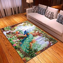 DRSTGYH Modern Rug Carpet Shaggy Area Rugs Green