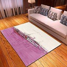 DRSTGYH Modern Rug Carpet Shaggy Area Rugs Pink