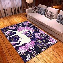 DRSTGYH Modern Rug Carpet Shaggy Area Rugs Purple