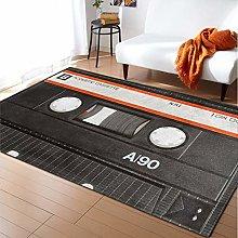 DRTWE Carpet,Vintage Recorder Pattern Anti-Skid