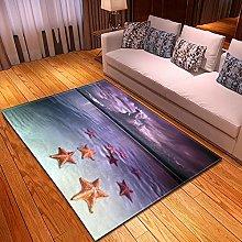 DRTWE Velvet Area Rug For Living Room Beach