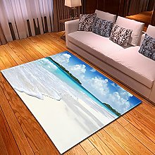 DRTWE Velvet Area Rug For Living Room Pretty